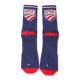 USA Cycling Navy Logo Sock