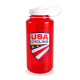 Nalgene 32 oz. Water Bottle - White Cap/Red Bottle