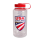 Nalgene 32 oz. Water Bottle - Red Cap/Clear Bottle