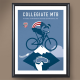 USA Cycling Special Edition Cycling Art Prints From Artist Michael Valenti-USAC Collegiate MTB Nationals