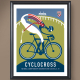 USA Cycling Special Edition Cycling Art Prints From Artist Michael Valenti-USAC Cyclocross Nationals